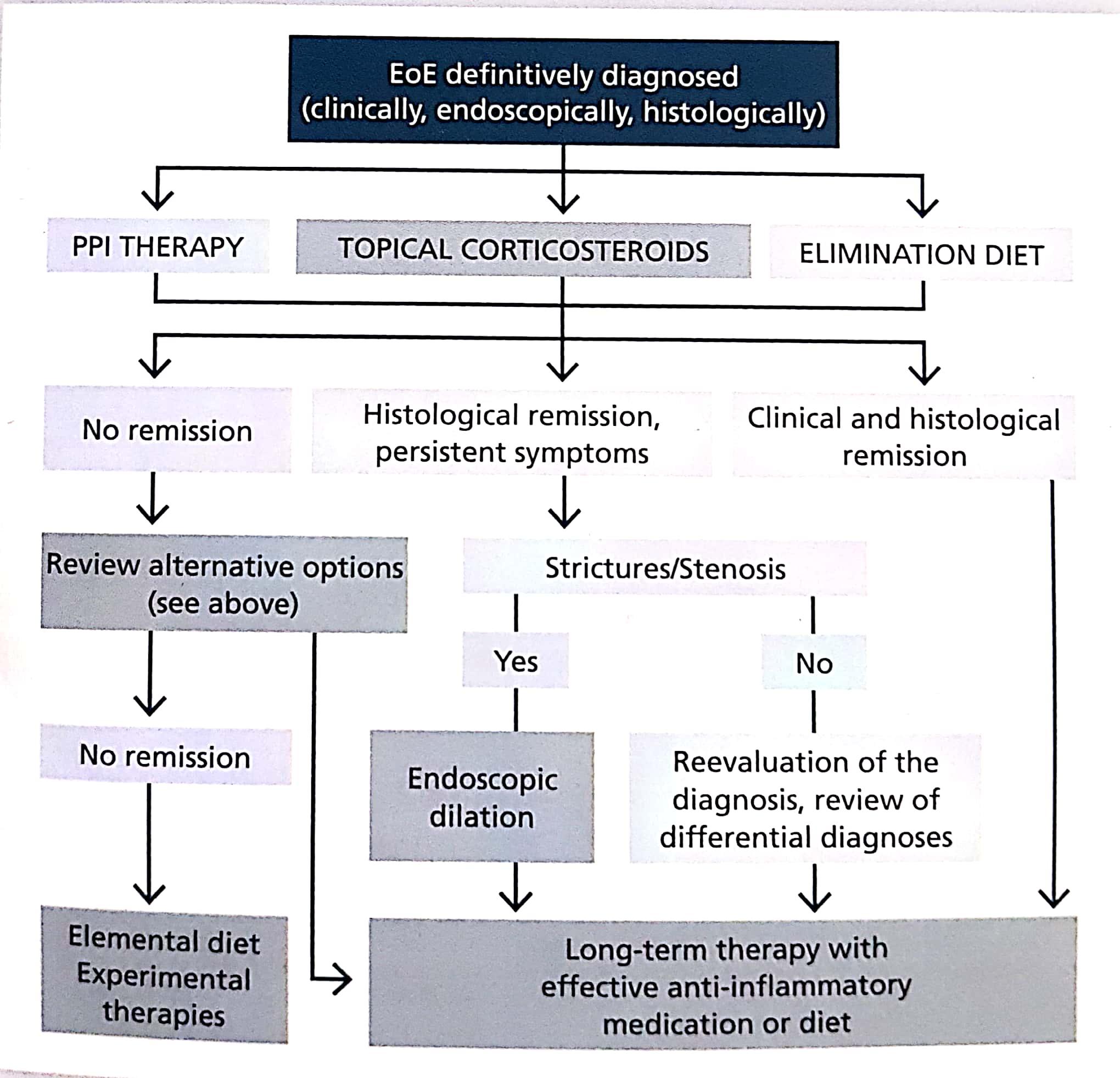 Treatment In Eosinophilic Esophagitis Eoe